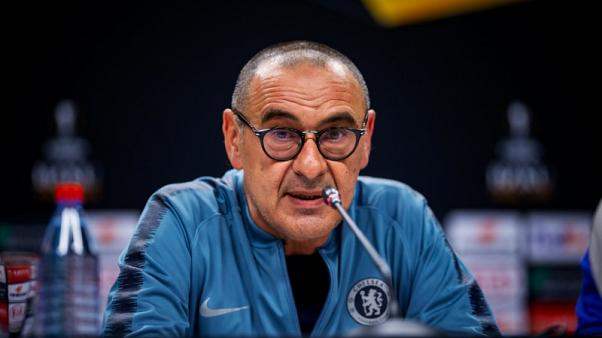 Chelsea's Sarri storms off on eve of Europa League final