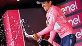 Tour d'Italie: Carapaz réussit son anniversaire