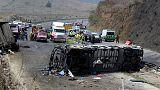 مقتل 20 شخصا على الأقل في حادث تصادم بالمكسيك
