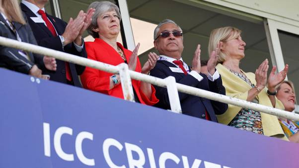 Free from Brexit burden, PM Theresa May heads to the cricket