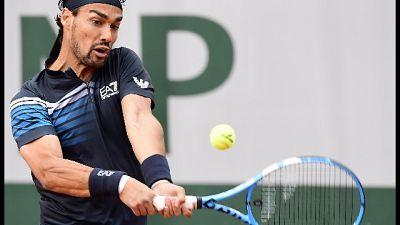 Roland Garros: Fognini al terzo turno