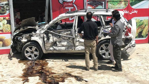 Car bomb targets U.S. convoy in Afghan capital, several casualties