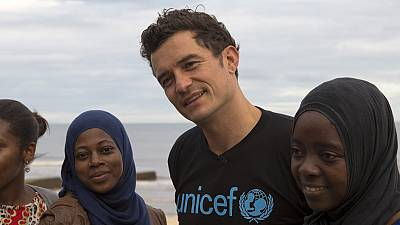 Mozambique: UNICEF Goodwill Ambassador Orlando Bloom meets the child cyclone survivors who've lost everything