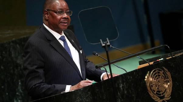 Malawi president, at inauguration, pledges to root out corruption