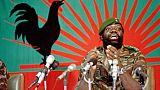 Jonas Savimbi le 11 décembre 1985 à Jamba, dans le sud de l'Angola