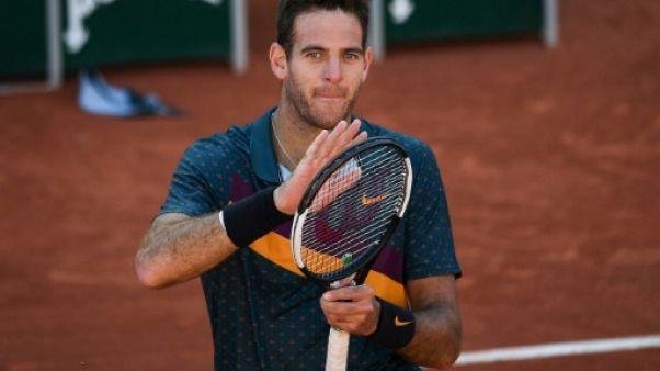 Roland-Garros: Del Potro file en huitièmes