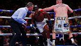 Boxing: Joshua suffers stunning defeat to Ruiz Jr.