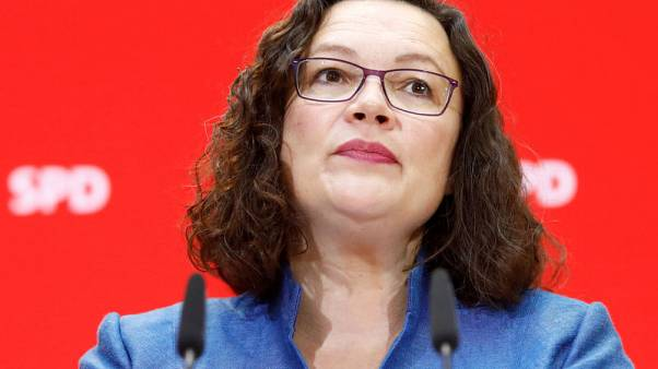 German SPD leader Nahles quits as party's popularity hits low