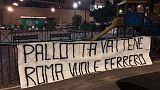 Roma, striscioni contro Pallotta