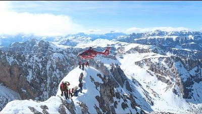 Esercitazione Aiut Alpin sulle Dolomiti