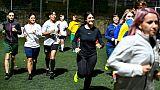 Séance d'entraînement pour les joueuses du Vatican, le 23 mai 2019 à Rome