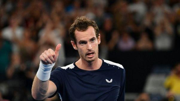 Le Britannique Andy Murray lors de l'Open d'Australie le 15 janvier 2019