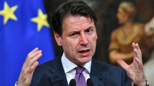 Le chef du gouvernement italien Giuseppe Conte le 3 juin 2019 à Rome.