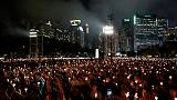 Hong Kong holds sombre Tiananmen vigil as Beijing goes into lockdown