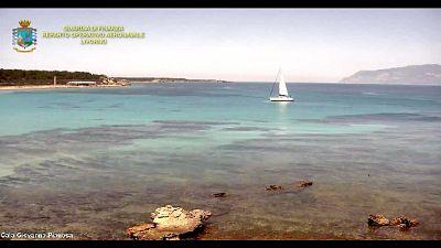 Barca in area protetta Pianosa, multa