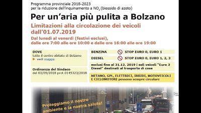 Bolzano bandisce auto euro3 diesel