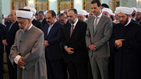 Syrie: le président Assad dans une mosquée de Damas pour célébrer l'Aïd