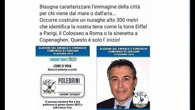"""""""Nuraghe a Cagliari"""", proposta candidato"""