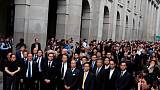 """Hong Kong lawyers protest """"polarising"""" extradition bill in rare march"""