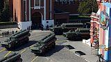 Des batteries de missiles russes S-400, le 7 mai 2019 à Moscou