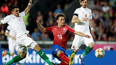 Schick double helps Czechs fight back to beat Bulgaria 2-1