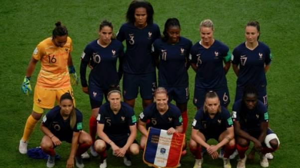 L'équipe de France de football féminin, le 7 juin 2019