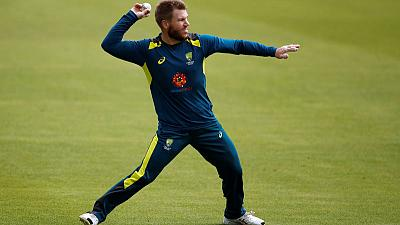 Warner 'shaken up' by nets mishap, says Finch