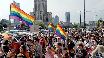 Warsaw pride parade attracts large crowd amid heated political debate