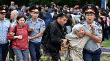 Nazarbayev ally set to win Kazakh vote as hundreds protest
