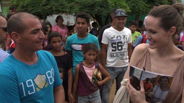 En Colombie, Angelina Jolie plaide pour les enfants apatrides de migrants vénézuéliens