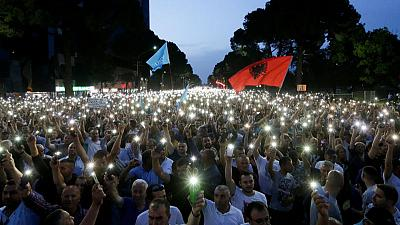Opposition rallies again to get Albanian PM to quit