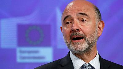 EU executive expects firm euro zone backing against Italy - Moscovici