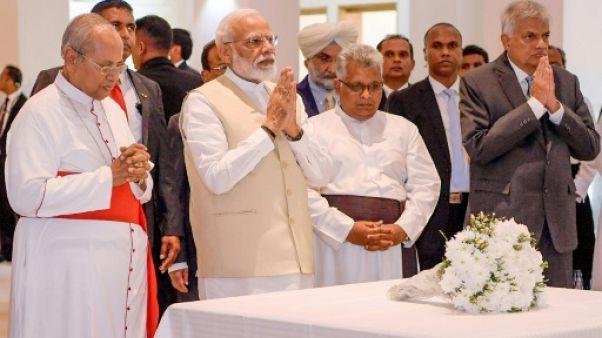 Sri Lanka: visite du Premier ministre indien à l'une des églises de l'attentat de Pâques