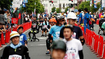 Blood, sweat but no tears in Japan's office chair grand prix
