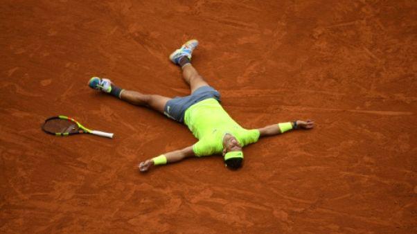 Roland-Garros: Nadal, seul au monde, sacré une 12e fois