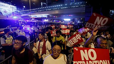 Hundreds of thousands march in Hong Kong to protest China extradition bill