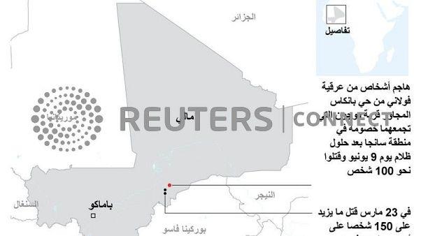 مقتل نحو 100 في هجوم على قرية بوسط مالي