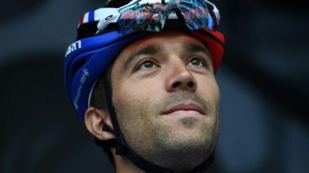 Le Français Thibaut Pinot lors de la 1re étape du Dauphiné le 9 juin 2019
