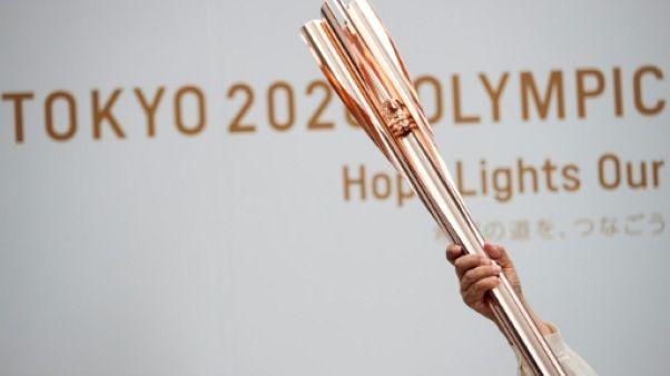 La torche des Jeux Olympiques de Tokyo 2020 photographiée le 1er juin 2019.