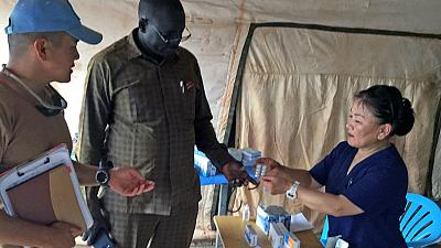 Some respite in Kong village as Mongolian peacekeepers provide much-needed medical services (by Luk Riek Nyak)