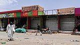Certains magasins étaient fermés à Khartoum lors de la troisième journée de désobéissance civile, le 11 juin 2019