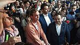 Le journaliste russe Ivan Golounov quitte les locaux de la police, à Moscou, le 11 juin 2019