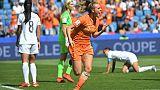 Jill Roord explose de joie en offrant la victoire aux Pays-Bas contre les Néo-Zélandaises en toute fin de match au Havre, le 11 juin 2019