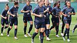 L'équipe de France féminine à l'entraînement au stade Charles Ehrmann à Nice, le 10 juin 2019