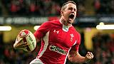 La légende du rugby gallois Shane Williams lors d'un match contre l'Australie, à Cardiff, le 3 décembre 2011