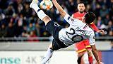 Florian Thauvin inscrit un but pour les Bleus sur un ciseau acrobatique, à Andorre le 11 juin 2019