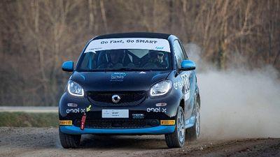 Le smart e-cup presenti al WRC Sardegna