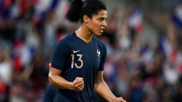 L'attaquante de l'équipe de France féminine Valérie Gauvin contre la Chine en amical, le 31 mai 2019 à Créteil
