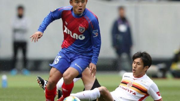 Le milieu de terrain du FC Tokyo, Takefusa Kubo, lors du match de J-League Division 1 face à Nagoya Grampus, à Tokyo, le 17 mars 2019