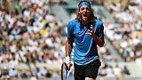 Stefanos Tsitsipas lors du tournoi de Roland-Garros, le 2 juin 2019